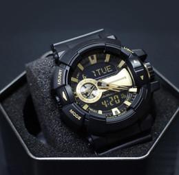 Discount black white g shock watch - Luxury Shock Mens Watches LED Designer Quartz Watch G Style GA400 All Function Work Sport Wrist Watches Brand Men's