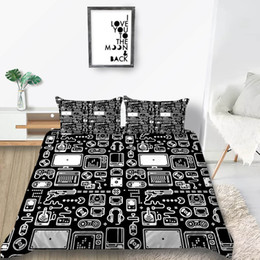 king size duvets sale Australia - Cartoon Device Bedding Set King Size Creative Cool Duvet Cover Queen Black Hot Sale Single Twin Full Double Bed Cover with Pillowcase