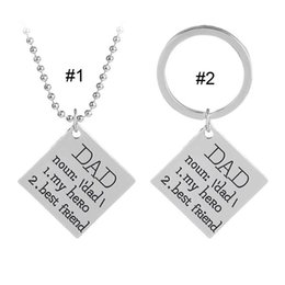 Letters Chains Rings Australia - DAD My Hero Best Friend Necklace Key chain Letter Pendant Rings Family Love Fashion Jewelry Gift for Women Men DROP SHIP 162592