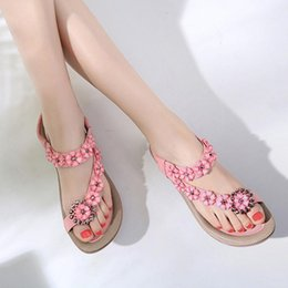 hot casual sandals Australia - 2019 Hot Sale Summer Comfort Sandals Women Sandals Flip Flops Flat Ankle Casual Beach Shoes Flower Rhinestone Gladiator 35-42