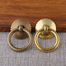 kitchen cabinets doors wholesale Australia - Kitchen Cupboard Cabinet Knobs Pulls Vintage Brass Drawer Dresser Cupboard Door Furniture Ring Pulls Handles Free Shipping