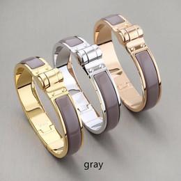Atacado de alta qualidade titanium pulseira pulseiras 18k h preto cinza laranja pulseira de fivela em ouro ferradura venda por atacado