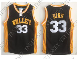 db7b6005f Cheap custom Larry Bird Spring Valley High School Basketball Jersey Black  Retro Stitched Customize any name number MEN WOMEN YOUTH JERSEY