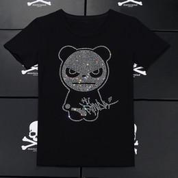 Drill T Shirt Australia - Lovers Hot drill Short sleeve Black white T shirt Streetwear Leisure time motion half sleeve fashion Trend Jacket Circular collar Pullover