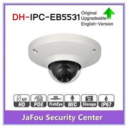 Build Camera Australia - DH 5MP Panoramic Network 1.4mm Fisheye IP Camera IPC-EB5531 Built-in Mic CCTV H.265 H.264 3DNR AWB AGC BLC IP67 PoE Detection