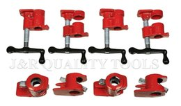 heavy duty clamps UK - Water Pipe Clamp Wood Gluing Pipe Clamp Set Heavy Duty Pro Woodworking Cast Iron