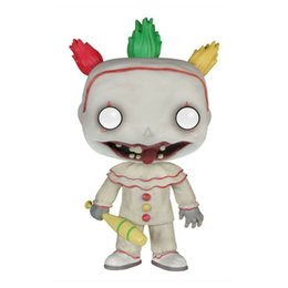 $enCountryForm.capitalKeyWord NZ - New limited FUNKO POP deformed show hand office model decoration toy American horror story clown 243#PVC Model dolls Gifts toys