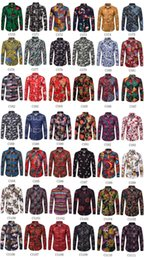 best printed shirts Australia - Best Selling Trends Style Clothing Long Sleeve Shirt Men 2019 Summer New Wholesale Fashion Casual Print Plus Size Streetwear Top