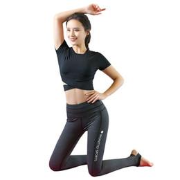 $enCountryForm.capitalKeyWord UK - Women's Yoga Gym Clothin Sportswear Suit for Fitness Cultivate Oneself Sport Women Set Short Girls Sleeve Yoga Suit