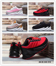 shark air NZ - With Box Unisex Kids fashion running shoes boys girls childrens shark Outdoor sports shoes Black Red Pink yellow Child Children Athletic