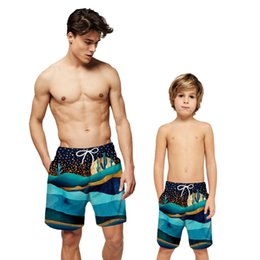$enCountryForm.capitalKeyWord Australia - Mountains Print Board Short Men Boy Board Shorts Swimwear Beach Surf Swim Swimming Shorts Trunk Lined Water Sport Holiday Short