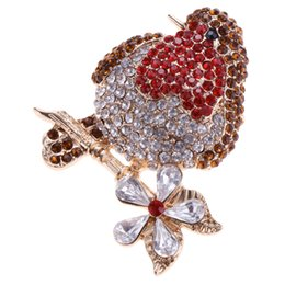 bling clothes accessories UK - Women's Small and Chic Rhinestone Bling Birds Brooch Pin Clothes Accessories