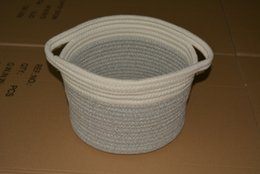 $enCountryForm.capitalKeyWord Australia - Handmade ECO-friendly Cotton plant rope Linen household organization for baby toys clothes sundries housekeeping storage basket