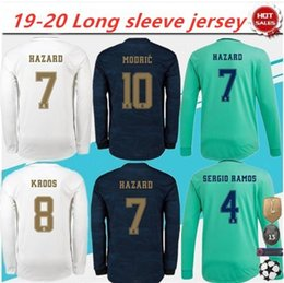 soccer jersey real madrid away Australia - 2019 2020 Real Madrid HAZARD MODRIC KROOS Home Away 3rd Men Long Sleeve Soccer Jerseys SERGIO RAMOS BENZEMA ISCO BALE MARIANO Football Shirt