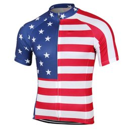 cycling jersey flags Canada - HIRBGOD 2020 New USA Flag Cycling Jersey Summer Breathable Short Sleeve Men's Bike Shirt Team MTB Mountain Cycling Clothes,HK065
