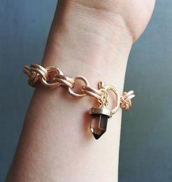 $enCountryForm.capitalKeyWord Australia - Timeless Wonder New Stone Charm Chained ID Bracelet Bijoux Jewlery Snap Punk Hip Hop Sassy Gown Rare Boho Gift Stunning Ins 5599