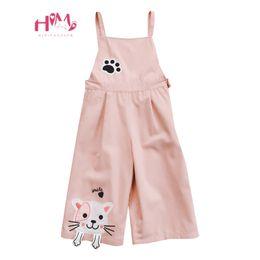 2b1c9dcdb9 Japanese Mori Girl Cute Cat Jumpsuits Korean Fashion Kawaii Embroidery Pink  Overalls Harajuku Casual Teen Rompers Wide Leg Pants
