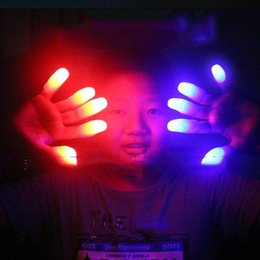 glow party decorations Australia - Party Decorations LED Bright Finger Lights Glow LED Fingers Toys Led Finger Light Finger Lamp Light for Chistmas Decoration Toy