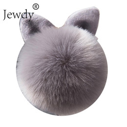 $enCountryForm.capitalKeyWord Australia - Jewdy Bunny Key Chain Pom Pom Key Rings Rabbit Fur Ball KeyChain Porte Clef Pompom de fourrure Pompon Women Bag Charms Jewelry