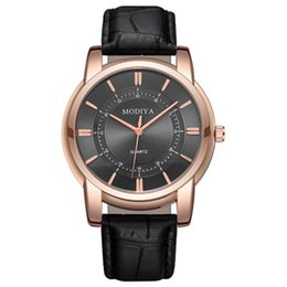 Watches for business online shopping - Simple fashion mens male rose gold dial leather watch men students business quartz wrist watch sport wristwatches for men