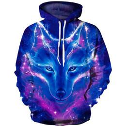 9ba7b8d97a7 Brand New Wolf Hoodie Sweatshirt Homme 3D Lion Print Mens Hoodies Thin  Autumn Winter Casual Anime Hoodie Men Jacket Outwear Coat