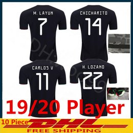 g player 2019 - 2019 Player version Gold cup Mexico blackout soccer jerseys H. LOZANO G. DOS SANTOS VELA football shirts GUARDADO JIMENE