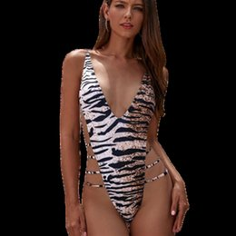 Wholesale strappy swimsuit push up online – One Piece V Neck One Piece Swimsuit Push Up Swimwear Womens Strappy Bathing Suit String Monokini Cross Back Badpak Beachwear