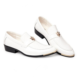 $enCountryForm.capitalKeyWord Australia - Men's Fashion Leather Loafers Mens Lace-Up Casual Business Moccasins Oxfords White Wedding Shoes Man Party Driving Flats
