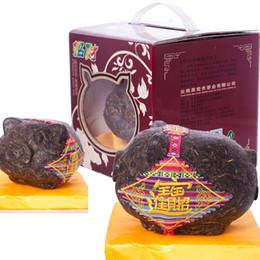 $enCountryForm.capitalKeyWord Australia - Chinese Puer Tea 600g Raw Puer Green Tea Craft Gift Lucky Pig Pu-erh Sheng cha Pu erh Health Care Pu er Healthy Puerh Red Tea Green Food