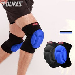 Aolikes knee support online shopping - AOLIKES Thickening Football Volleyball Extreme Sports knee pads brace support Protect Cycling Knee Protector Kneepad rodilleras