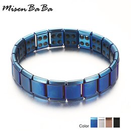 $enCountryForm.capitalKeyWord Australia - New 4 Color Blue Stainless Steel Chains Health Energy Balance Germanium Magnetic Bracelet For Men Male Bracelets Femme Jewelry