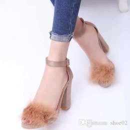 kitten heels pink shoes UK - With Box Woman Slippers Heels shoe Sandals Real Leather High Quality Slippers Fashion Scuffs Slippers Casual shoes Free DHL PT843