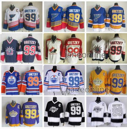 385d81d32 King Hockey Jerseys Australia - Mens 99 Wayne Gretzky Vintage Hockey  Jerseys Los Angeles Kings Edmonton
