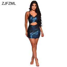 Backless v cut Bodycon dress online shopping - Waist Band Cut Out Sexy  Lurex Dress Women 0f0c9696c