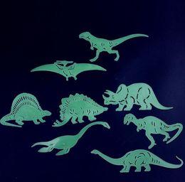$enCountryForm.capitalKeyWord Australia - 1Bag 3D Luminous Dinosaur Wall Sticker Removable Glow in The Dark Adhesive DIY Art Decals Baby Kids Bedroom Murals Home Decor Supply