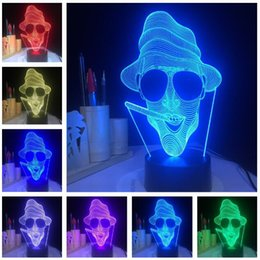 $enCountryForm.capitalKeyWord Australia - 3D LED Home Decor Retro Rock and Roll Punk Style Night Light 3D Cigarette Smoking ghost Man Version Bulb Lamp Color Change Atmosphere Light