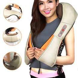 Wholesale Home Auto U Shape Electric Shiatsu Neck Shoulder Body Massager Infrared Heated Kneading Car Home Dual Use Infrared Cervical Massage