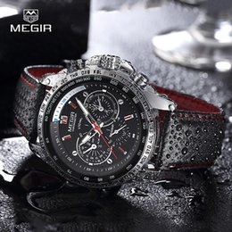 $enCountryForm.capitalKeyWord Australia - Megir Hot Fashion Man's Quartz Wristwatch Brand Waterproof Leather Watches Men Casual Black Watch For Male 1010 MX190725