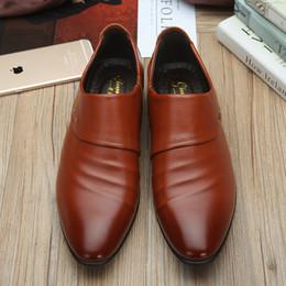 $enCountryForm.capitalKeyWord Australia - 2019 Big size fashion Mature man soft leather shoes flats shoes wedding Business dress slip on Pointed toe C1-78