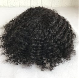 $enCountryForm.capitalKeyWord NZ - Afro Curly Full Lace Toupee Full Lace Afro Curly Men Toupee 8*10 Inch High Qulity Hair Men Wig Replacement Systems For Men