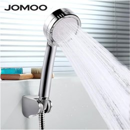 wall hose holder UK - JOMOO Charcoal Purified High Pressure Shower Head Water Saving Round ABS Handheld Rainfall Showers heads douche with holder hose