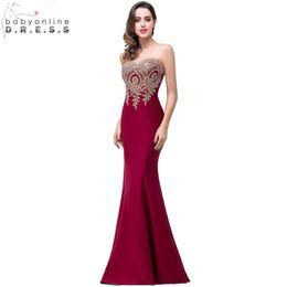 9432e0a89 Sexy Backless Appliques Burgundy Mermaid Lace Long Prom Dresses Royal Blue  Black Evening Party Dress Vestido De Festa LongoQ190330