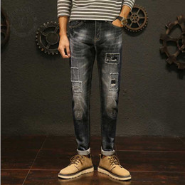 Wholesale Ripped Woven Jeans For SS2019 New Collection Boy s Denim Pants Fashionable Used Wash And Suitable Fabric Quality Black Wash