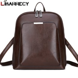 Large Capacity Backpack Australia - Vintage Backpack Female Brand Leather Women's Backpack Large Capacity School Bag For Girls Leisure Shoulder Bags For Women 2018 Y19061004