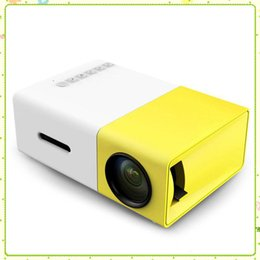 led hdmi NZ - YG300 Portable Projector YG 300 LED 400-600LM 3.5mm Audio 320 x 240 Pixels YG-300 HDMI USB Mini Projectors Home Media Player 1pcs