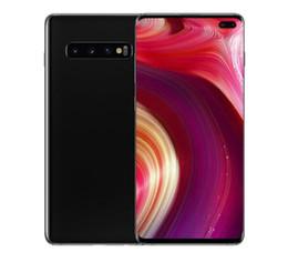 Großhandel ERQIYU Goophone S10 + S10 Touch ID entsperren 6,4 Zoll Android 9.0 Handys gezeigt 4G LTE 6G RAM 256 GB ROM Smartphones