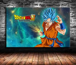 Super Figure Painting NZ - 1 Pieces Canvas Prints Wall Art Oil Painting Home Decor Dragon Ball Super Goku (Unframed Framed) 24x36.
