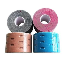 Patch Medical Australia - 5cm*5m Perforated Breathable Muscle Patch Medical Elastic Sports Bandage Muscle Sticker Physiotherapy Tape Accepted Wholesale #169791
