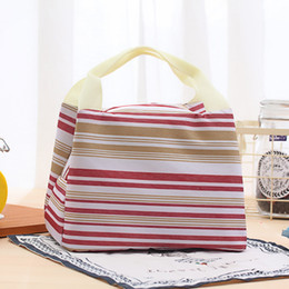 $enCountryForm.capitalKeyWord NZ - Wholesale Colorful Strip lunch bags Isothermic Bags Ice Packs Picnic Handbags carry bag 5 styles optional Free shipping