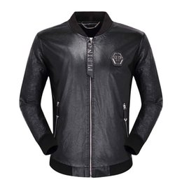Korean leather fashion trend online shopping - Spring Korean version of the new men s motorcycle leather short section youth slim trend PU leather jacket retro handsome coat